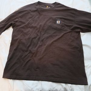Carhartt Long Sleeve Pocket Tee Dark Brown K12DKB